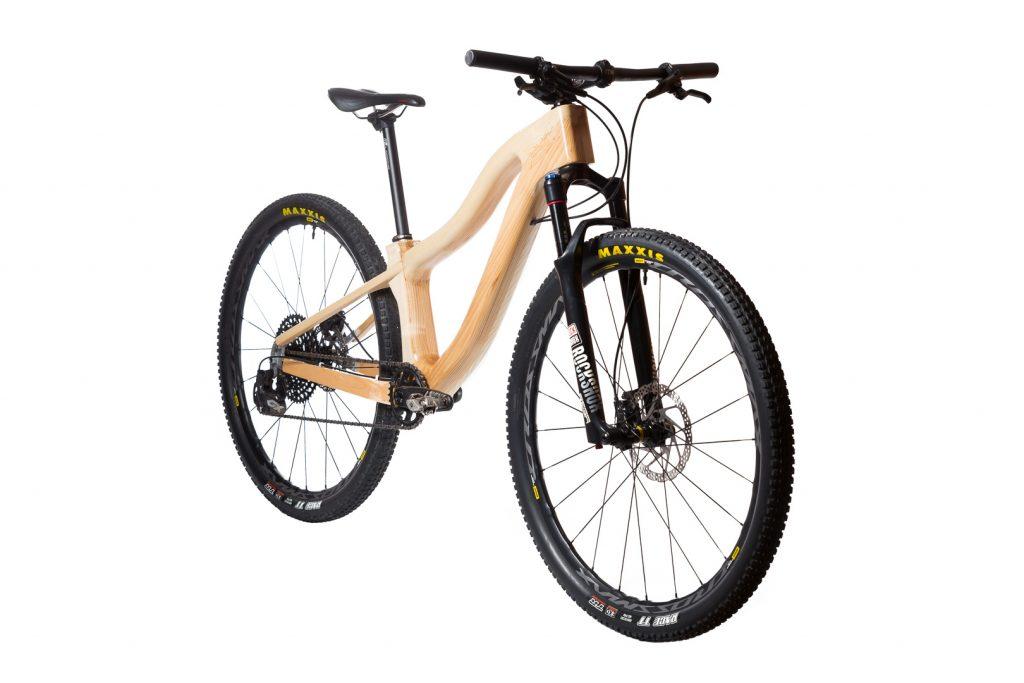Horský drevený bicykel BIKEMI Wooden Adventurer Natural 29 detail 1