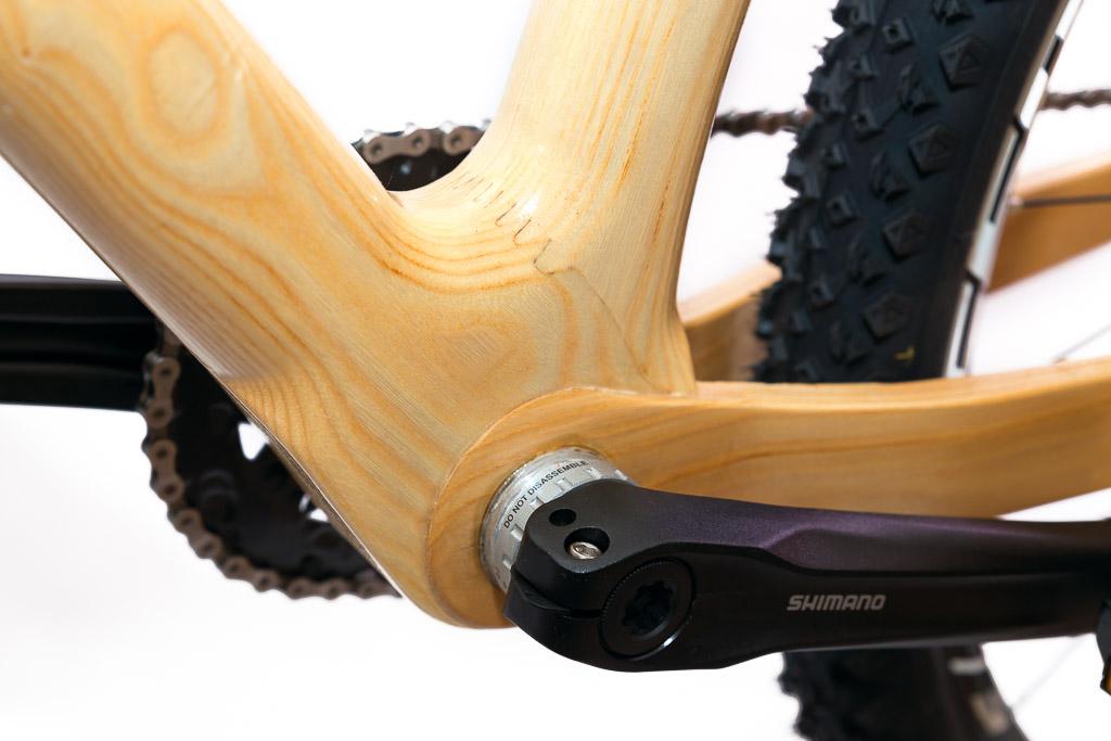 Horský drevený bicykel BIKEMI Wooden Explorer Natural 27,5 detail 3