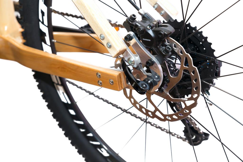 Horský drevený bicykel BIKEMI Wooden Explorer Natural 27,5 detail 5