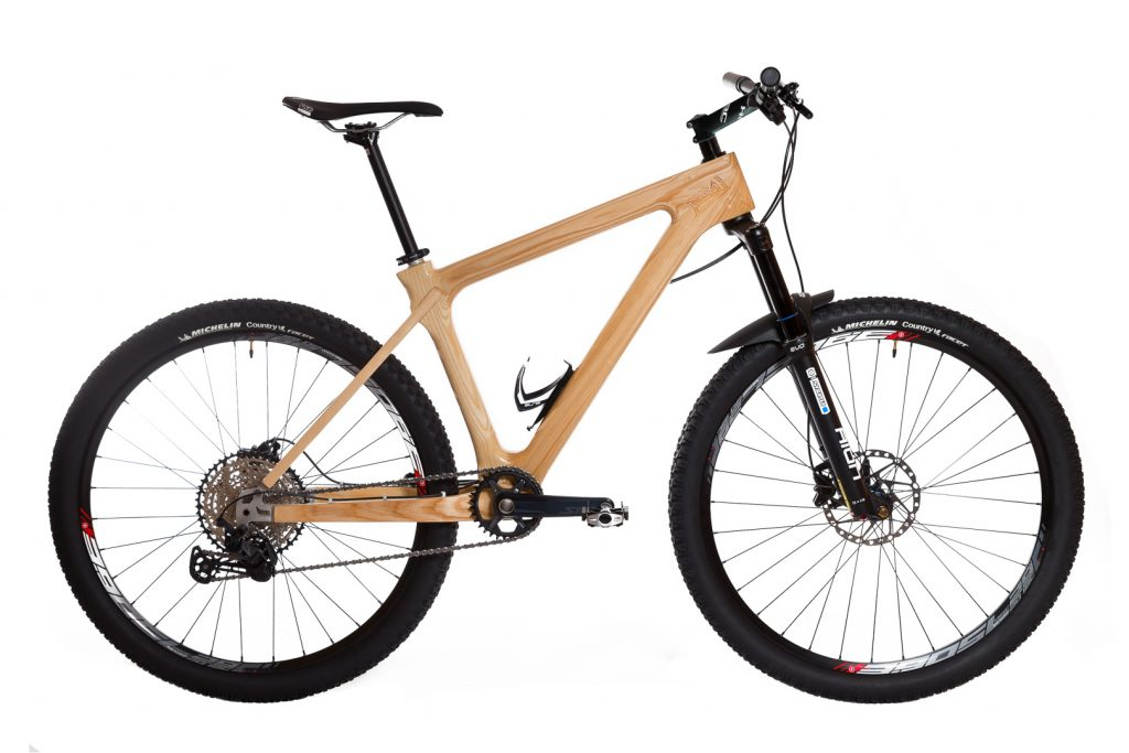 Horský drevený bicykel BIKEMI Wooden Explorer Natural 29 Shimano