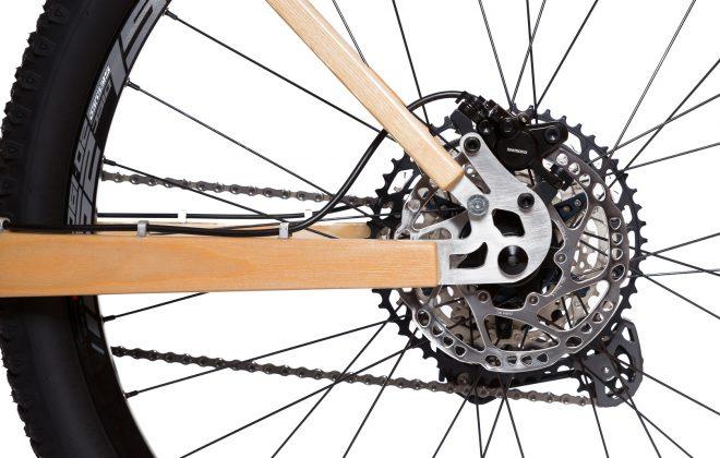 Horský drevený bicykel BIKEMI Wooden Explorer Natural 29 Shimano detail4