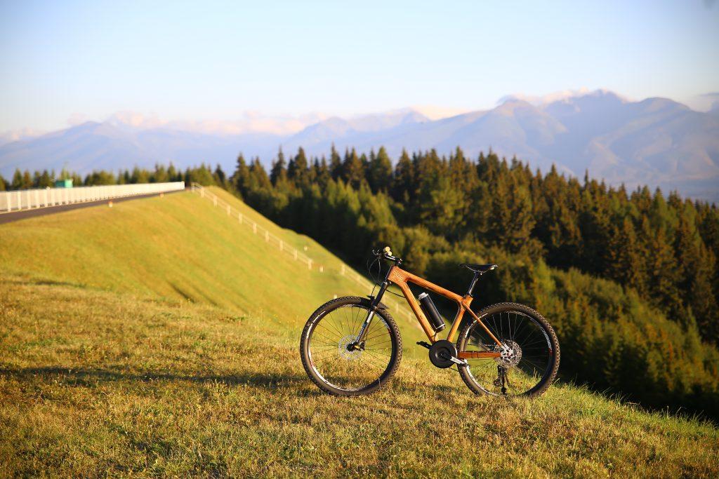 Horský drevený elektrický bicykel BIKEMI Wooden Explorer D.Brown 27,5 E-Bike foto 1